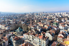 瓦尔纳,保加利亚一般高看法在美好的晴天 免版税库存图片