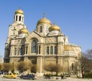 瓦尔纳,保加利亚,圣母玛丽亚的做法大教堂  库存图片