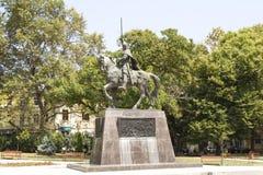 瓦尔纳,保加利亚,对Kaloyan国王的纪念碑 库存照片