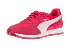瓦尔纳,保加利亚- 2016年5月13日:美洲狮ST赛跑者体育鞋子 美洲狮,一个主要德国跨国公司 查出在白色 产品 库存照片