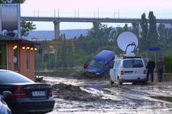 洪水瓦尔纳,保加利亚6月19日 免版税库存照片