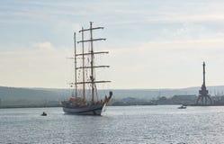 瓦尔纳,保加利亚- 10月02 :国际赛船会SCF黑海高船REGATA 2016年 免版税图库摄影