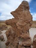瓦尔de与超现实的冰砾的las rocas在玻利维亚的altiplano 免版税库存图片