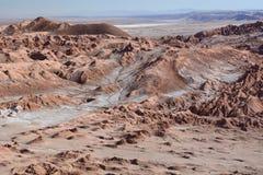 瓦尔de la月/月球或月亮谷 San Pedro de Atacama 智利 免版税库存图片