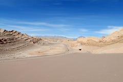 瓦尔de la月/月球沙子沙漠阿塔卡马,智利 免版税库存图片