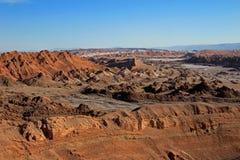瓦尔de la月/月球,月亮的谷,阿塔卡马沙漠智利 免版税库存图片