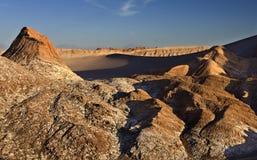 瓦尔de la月/月球-阿塔卡马沙漠-智利 库存图片
