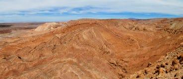 瓦尔de la的月/月球干燥沙漠在圣佩德罗火山de阿塔卡马 库存图片