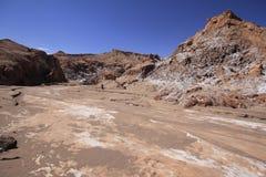 瓦尔del月/月球-月亮的谷,在atacama,辣椒 免版税库存照片