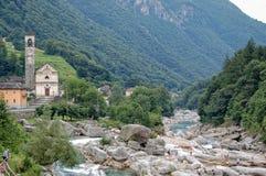 瓦尔Verzasca - Lavertezzo 免版税图库摄影