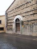 贝瓦尼亚中世纪镇在意大利 库存图片