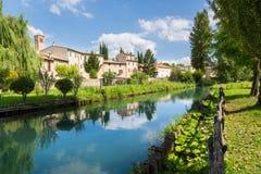 贝瓦尼亚,翁布里亚在意大利 免版税库存照片