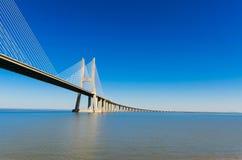 瓦斯考Da Gama桥梁,里斯本 库存照片