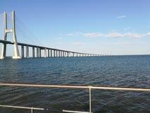 瓦斯考Da Gama桥梁 免版税库存图片