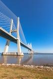 瓦斯考Da Gama桥梁(Ponte瓦斯考Da Gama),里斯本 免版税库存照片
