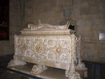瓦斯考De Gama坟茔在Jeronimos修道院里在里斯本葡萄牙 库存照片
