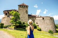 瓦杜兹城堡在列支敦士登 免版税库存图片