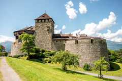 瓦杜兹城堡在列支敦士登 库存图片