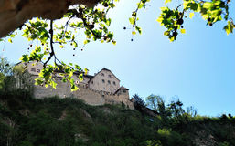 瓦杜兹城堡视图 免版税库存图片