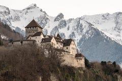 瓦杜兹城堡,列支敦士登 图库摄影