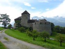 瓦杜兹城堡,列支敦士登 库存照片