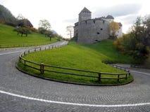 瓦杜兹城堡 库存图片