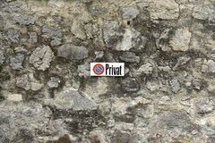 瓦杜兹,列支敦士登- 2017年6月02日:在古腾堡C的标志Privat 免版税库存图片