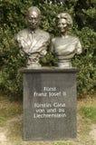 瓦杜兹,列支敦士登- 2017年6月02日:弗朗兹约瑟夫雕象  免版税库存照片