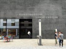 瓦杜兹,列支敦士登- 2017年6月02日:艺术博物馆Kunstmuse 图库摄影