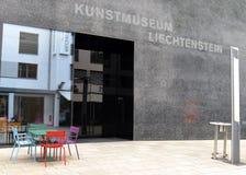 瓦杜兹,列支敦士登- 2017年6月02日:艺术博物馆Kunstmuse 库存照片