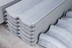瓦板料石棉具体纤维水泥 库存图片