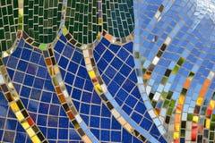 瓦片和镜子镶嵌构造背景 免版税库存图片
