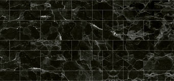黑瓦片大理石纹理背景 大理石详细的结构在为背景和设计仿造的自然的 免版税库存照片