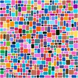 瓦片抽象背景,五颜六色的马赛克 免版税库存图片