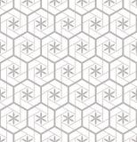 瓦片的无缝的样式在卫生间里 画家庭纺织品的 样式由六角形做成 向量例证