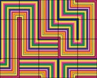 瓦片的时髦的无缝的样式在多彩多姿的条纹的 图库摄影