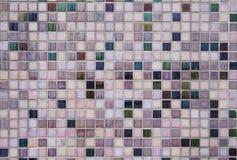 瓦片砖墙背景 免版税图库摄影