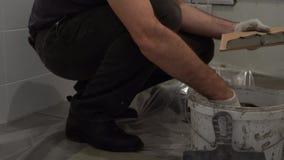 瓦片胶浆的应用在瓦片的 影视素材