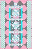 瓦片装饰样式在轻淡优美的色彩下 向量例证