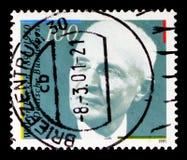 瓦特Eucken,瓦特Eucken serie诞生二百周年画象,大约1991年 免版税库存图片