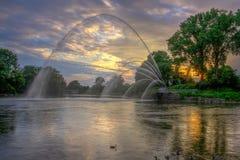 瓦特J 布莱克本纪念品喷泉 免版税图库摄影