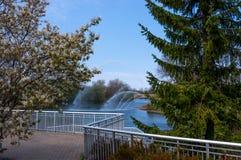 瓦特J 布莱克本纪念品喷泉 免版税库存照片