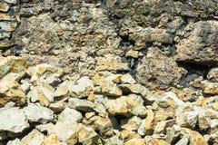 瓦砾一座大山  库存照片