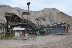 瓦砾和小块爆破 免版税图库摄影