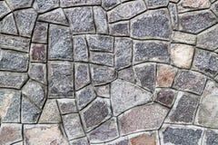 瓦砾灰色石墙, rubblework 免版税库存照片