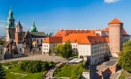 瓦维尔山城堡在克拉科夫,波拉 免版税库存图片