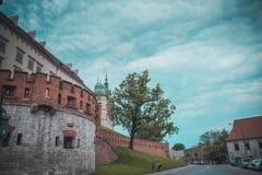 瓦维尔山城堡在克拉科夫 免版税库存图片