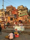 瓦腊纳西印度 库存照片