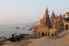 瓦腊纳西市,印度 免版税库存照片