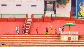 瓦腊纳西,自然印度的Glimple 免版税库存照片
